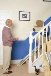 Remote control stairlift